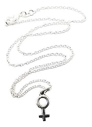 Eclectic Shop Uk Versilbert Buchse Venus Symbol Anhänger Versilbert Damen Venus Feminist Halskette