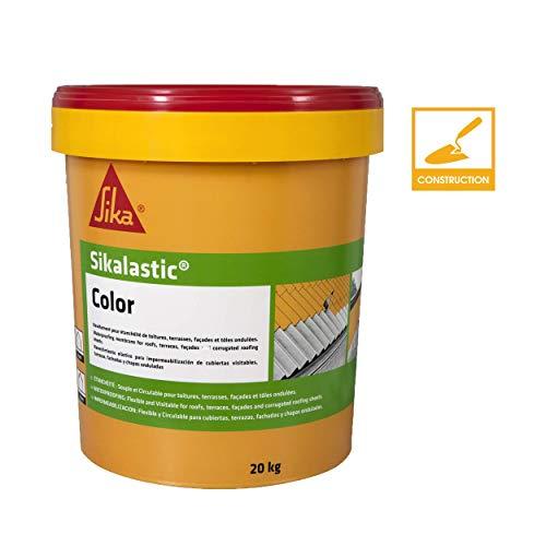 Morbido rivestimento di impermeabilizzazione Tetti/terrazze/facciate/lamiere ondulate–sikalastic color–20kg