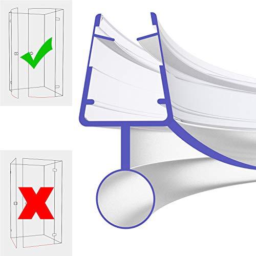Duschdichtung Gebogen 40cm 400mm für 5mm, 6mm, 7mm und 8mm 8800 Glasstärke Duschdichtung Wasserabweiser Ersatzdichtung Duschprofil Duschtürdichtung