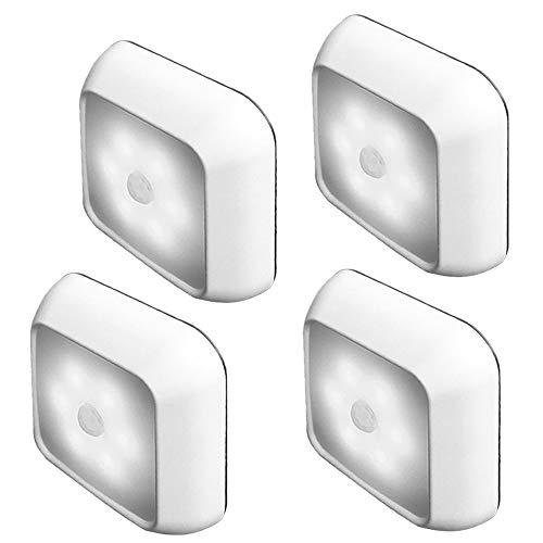 Bewegungssensor Licht Lampe 3Pack Cordless LED Nachtlicht für Flur Küche Badezimmer Schlafzimmer Treppen Safe Lichter Tageslicht Batterie nicht enthalten