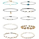 YADOCA 10 PCS Shell Choker Necklaces for Women...