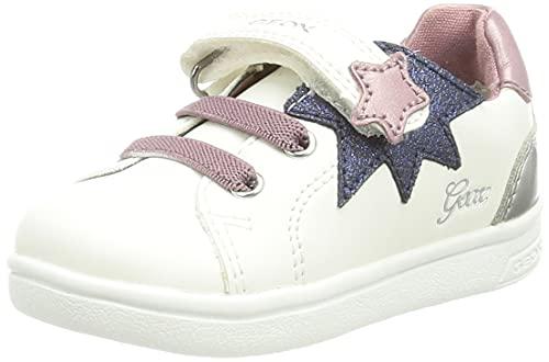 Geox Fille B Djrock Girl B Sneaker, Blanc Rose, 27 EU