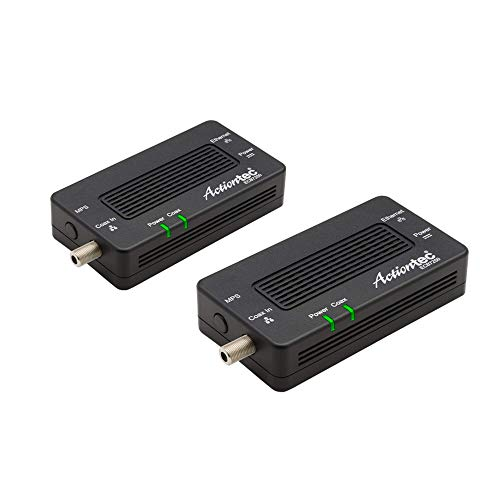 Actiontec Bonded MoCA 2.5 Network Adapter True 2.5 Gbps Ethernet Port for Ethernet Over Coax (2 Pack) – Extremely Fast Streaming, Gaming, Work/Learn from Home (Model: ECB7250K02) (Renewed)