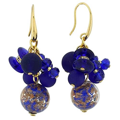 GlassOfVenice Murano Glass Stardust Charms Pendientes - Azul