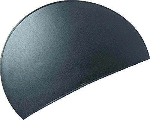 Läufer 49776 Durella Rondo Schreibtischunterlage, halbrund, rutschfeste Schreibunterlage, schwarz, 73 x 48 cm