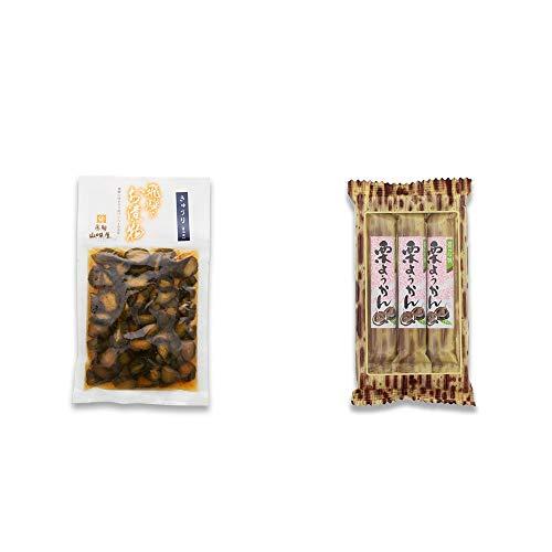[2点セット] 飛騨山味屋 きゅうり醤油漬(150g) ・スティックようかん[栗](50g×3本)