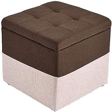 Ottoman Stool Sofa Stool Foot Rest Stool Foldable Stool Box, Storage Stool - Single Seat Bench, Folding Storage Pouffe, Foots