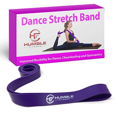 Myosource Kinetic Bands Dance Stretch Band - Dance Resistance Band for Ballet Dance Cheerleading Gymnastics Ice Figure Skating Stretching Flexibility Splits - (Purple)