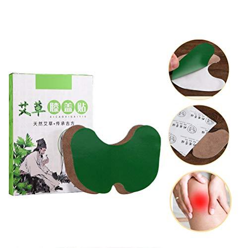Yissma 12 Stück/Box Schmerzlinderung Patch Kniepflaster Wermut-Extrakt Kniegelenk Rheumatoide Arthritis Chinesische Kräuter-Sticker-Pads