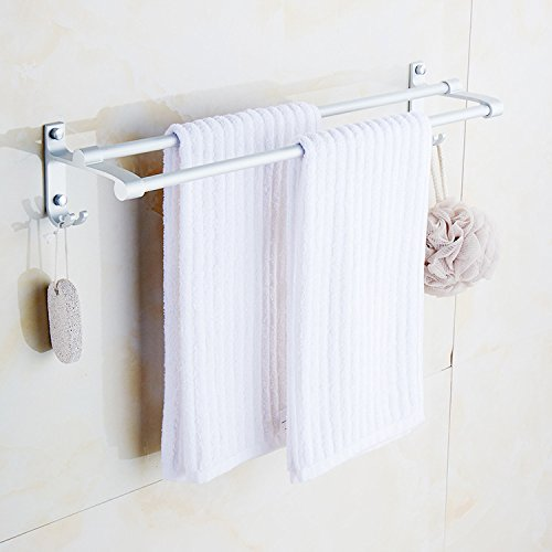 Badezimmer Weiß Matt Hoch Und Niedrig Doppel Retro Raum Aluminium Durable Anhänger Bad Multifunktionale Handtuchhalter 70 Cm