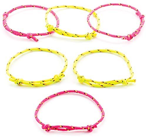 Baker Ross Freundschaftsbänder für Kinder - größenverstellbar - tolles Armband in Neonfarben - als Mitgebsel für den Kindergeburtstag - 12 Stück