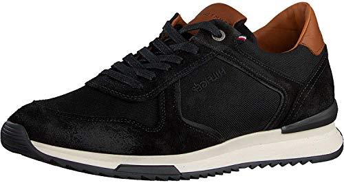 Tommy Hilfiger Runner Craft Mix - Zapatillas deportivas, negro (Negro), 45 EU
