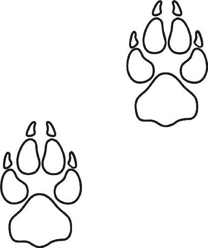 XL Hundeaufkleber Hundepfote mit Wunschtext fürs Auto HP2 (25cm)