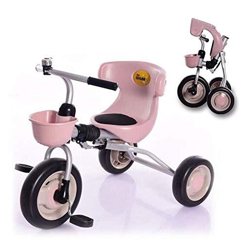 LQH Baby-Folding Dreirad-Kleinkind-Bike 3-6 Jahre alte Kinder Junge Mädchen Freie Montag Leicht (Color : Pink)