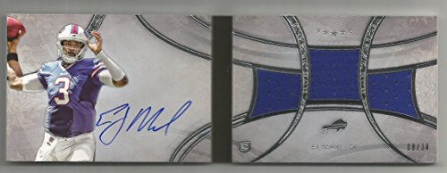 2013 Topps Five Star Football E.J. Manuel Auto Jersey Booklet Rookie Card # 8/38