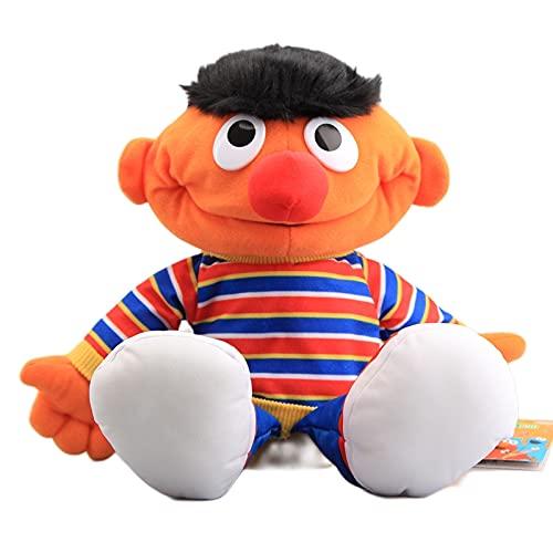 Sesame Street Plush Muppet Dolls Ernie Plush Hand Puppet Juguetes de Peluche Suaves Regalo de cumpleaños para niños Anime Dolls Gifts 37Cm,