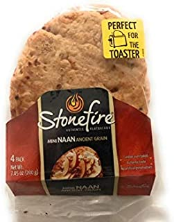Mini Naan Flatbreads, Ancient Grain (Pack Of 3) 12 Flatbreads Total.