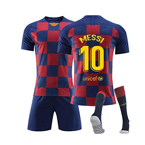 COOLBOY Fußball-T-Shirt 10# Messi 2019/20 Trikot Shorts und Socken Kinder und Jugend Größe - Geschenke für Kinder Erw. Jungen Baby Fußball T-Shirt Bedrucken,28