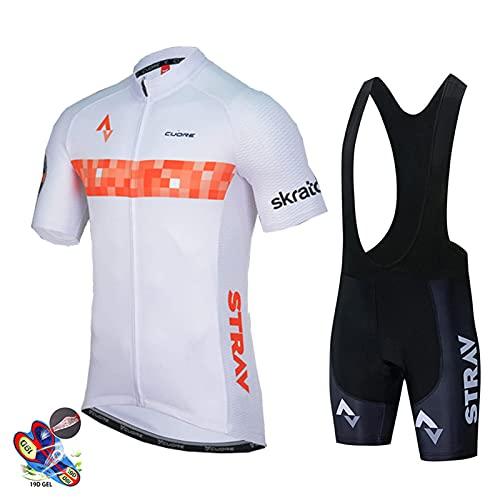 DNJKH Ropa Ciclista Hombre Verano Maillot Ciclismo + Pantalon/Culote Bicicleta para MTB Ciclista Bici