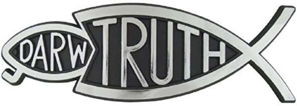 Travelling Witness Christian Bumper Christian Sticker Silver Truth Fish Eating Darwin Fish