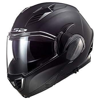 LS2 Helmets Valiant II Blackout Valiant II Modular Helmet  Matte Black - XX-Large
