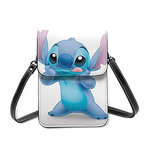 XCNGG Kleine Geldbörse L-ilo S-titch Cell Phone Purse Small Crossbody Bag Women Leather Mini Cell Phone Pouch Shoulder Bag to Carry Dexterous Convenience with Adjustable Strap Wallets