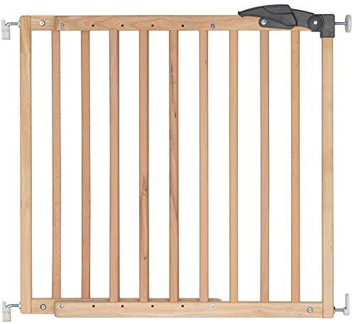 ib style® NICOLAS Treppengitter | Türschutzgitter | Keine Stolperkante |2-Schritte Verriegellung | Verstellbar | 78,5-113,5cm