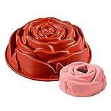 KBstore Forma di Rosa Fiore Stampo in silicone per Torte - Privo di BPA - Antiaderente Silicone stampi per Ciambelloni Tortiera #3