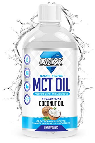 Onyx MCT Oil 500ml High Potency C8 & C10 Premium Coconut Oil Ketones Booster - Suitable for Ketogenic, Paleo, Vegan & Low Carb Diet (UNFLAVOURED)