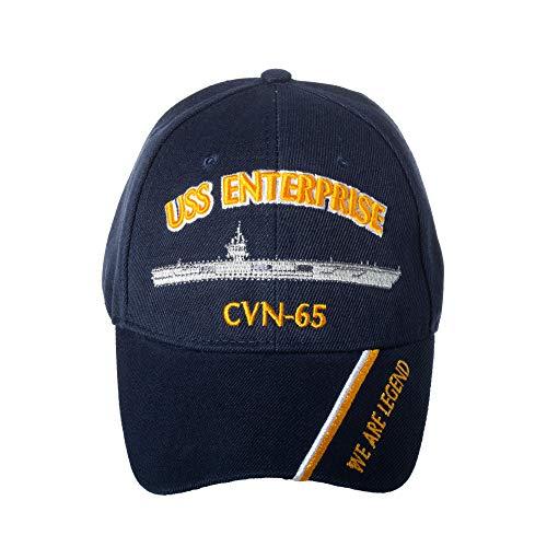 Artisan Owl Offiziell lizenzierte USS Enterprise CVN-65 bestickte Baseballkappe, Marineblau