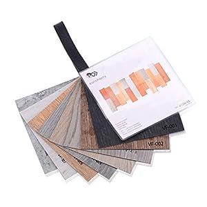 Euroharry Suelo de vinilo PVC Lamina Suelo Baldosas Suelo Antideslizantes Insonorizadas suelo de diseño estructurado (Libro de patrones)