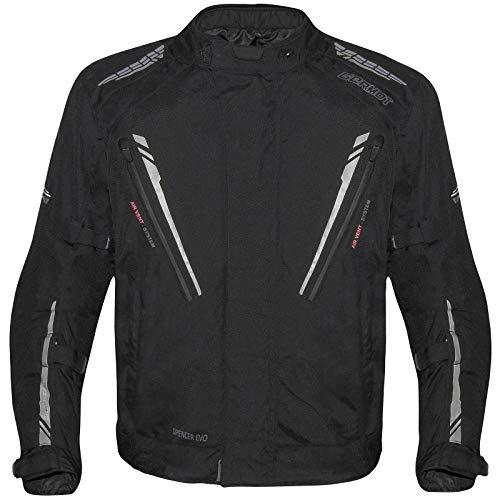 Germot Herren Motorradjacke Spencer Evo Big Size, Schwarz Grau, B3XL, 4223500