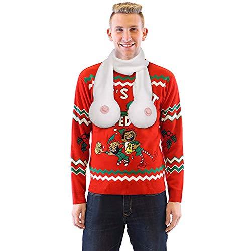 Theoylos Boob Scarfs Christmas Gag Prank Gifts Fashion Imitation Chest Scarf Soft Fleece Scarves Shawl Wraps