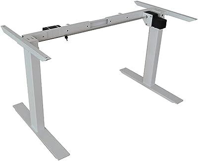 Standing Desk Height Adjustable Sit Stand Motorised Single Motor Frame Grey Only