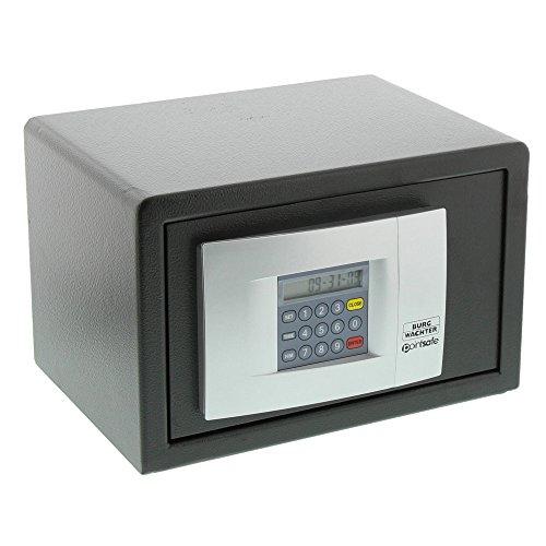 BURG-WÄCHTER Hoteltresor mit elektronischem Zahlenschloss, Point-Safe, 6,7 l, 8,0 kg, P 1 E KA 3, Schwarz