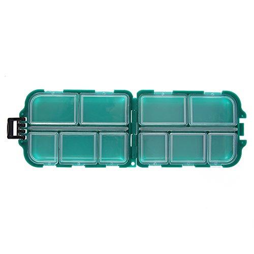 Everpert Kunststoff-Box Angelgerät Box kleine Zubehör Box Square Fishhook Box (99 X 65 X 30 mm)