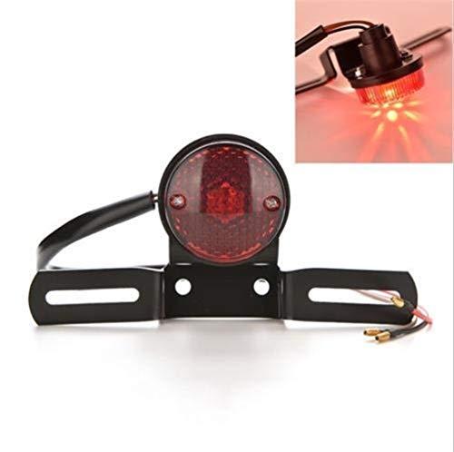 Nueva luz de la cola universal 12V Lente motocicleta roja licencia luz 1PC freno de la motocicleta placa trasera de soporte de la cola luces del coche