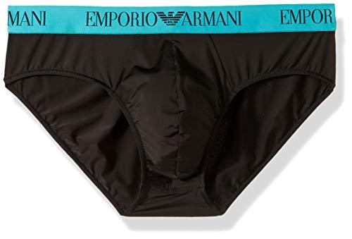 Emporio Armani Herren Underswim Brief Unterhose, schwarz, Medium