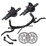 Frenos de Disco hidráulico de Bicicletas de montaña MTB Establece Delantera y Trasera con Flotante Conjunto Disco del Rotor