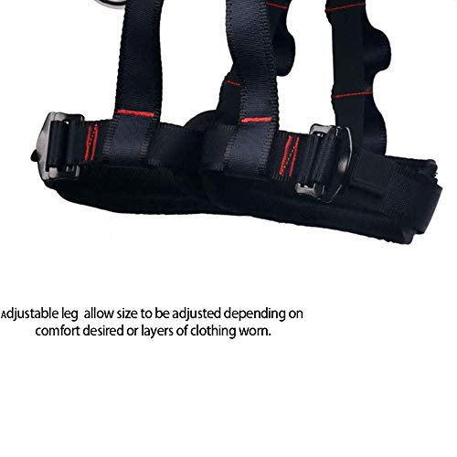 zvcv Thicken Climbing Harness, Protect Waist Half Body Harnesses, Widen Harness, Rappelling Equipment