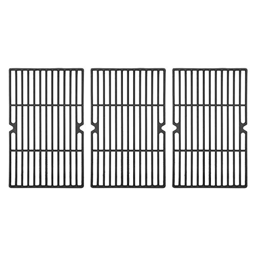 DcYourHome Cast Iron Cooking Grid Grate Replacement Parts for Uniflame GBC1059WE-C, GBC1059WB-C, 16 1 4'' BBQ Grill Grates Repair Part for Backyard Grill BY13-101-001-13 Gas Grill Model, 3 Pcs