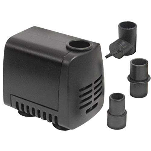 Beckett Corporation DP140 160 GPH Submersible Small Water Pump for Indoor/Outdoor Ponds, Fountains and Waterfalls, 4.1' Max Height, Black