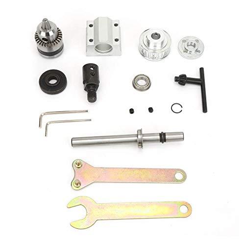 Conjunto de husillo sin motor B10 Taladro Portabrocas Eje de sierra con manguito de eje M10 para taladro de banco de sierra de mesa DIY