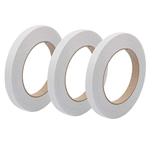 3 Pack, Double Sided Sticky Tape, Each Roll 33 Meters (Width 3mm, 6mm & 9mm) Self-Adhesive Tape for Craft Projects, Card Making, Scrapbooks