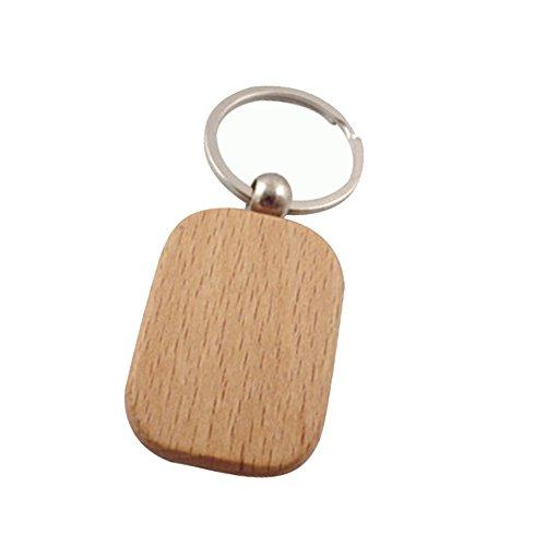 Mackur DIY Llavero madera llavero madera grabar mensaje