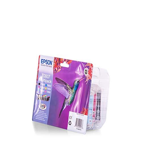 Epson Multipack 6-Colours T0807 Claria Photographic Ink - Cartucho de Tinta Para Impresoras