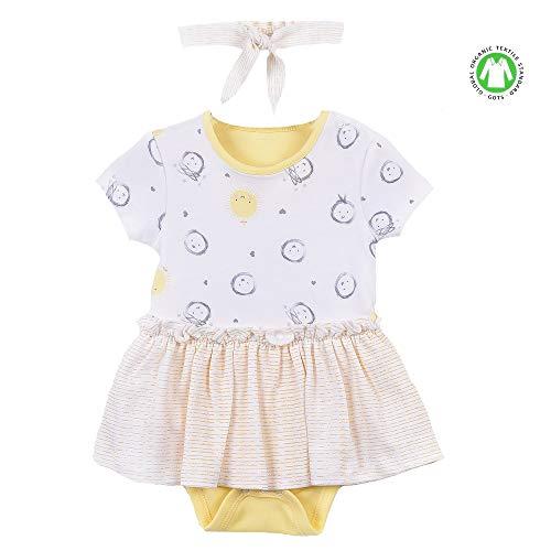 Sevira Kids - Robe bébé et bandeau en coton bio de 3 mois à 2 ans - Lola