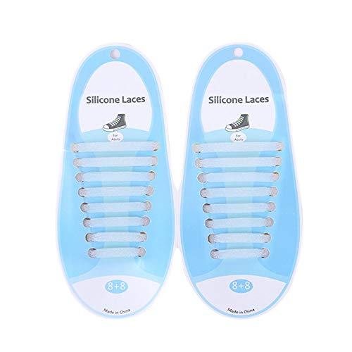 LeftSuper Cordones de Silicona Color Creativo Correa de Encaje de Silicona para Zapatos Sin Lavado Cordón de Zapato elástico Casual Cordón de Zapato de Silicona Cordón de Zapato