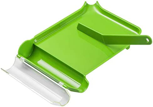 Right Hand Pill Counting Tray with Spatula Light Green L Shape product image