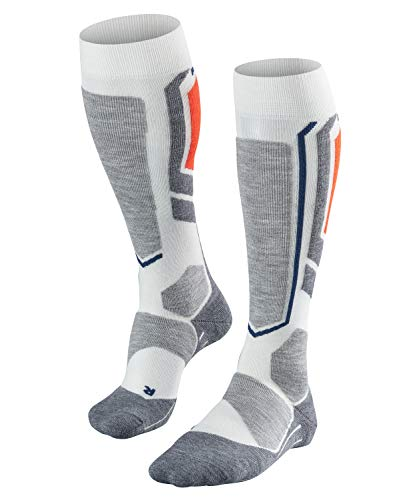 FALKE Damen, Snowboard Socken SB2 Merinowollmischung, 1 er Pack, Weiß (Off-White 2030), Größe: 41-42